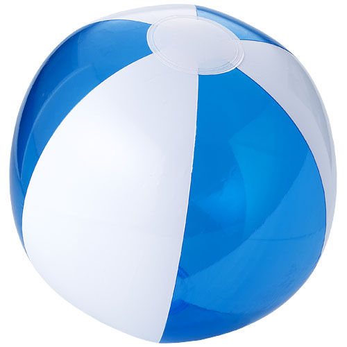 Bondi solid and transparent beach ball in transparent-blue-and-white-solid