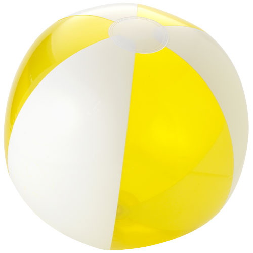 Bondi solid and transparent beach ball in yellow-and-white-solid