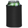 Crowdio insulated collapsible foam can holder in black-solid