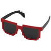 Pixel Sunglasses in black-solid-and-red