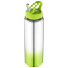 Gradient bottle in lime-and-silver