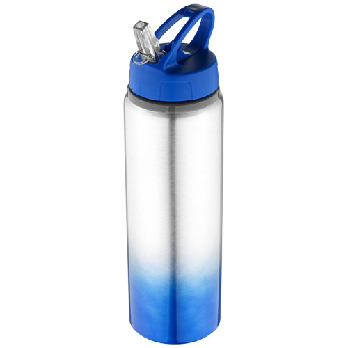 Gradient bottle in royal-blue-and-silver