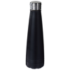 Duke 500 ml copper vacuum insulated sport bottle in black-solid