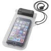 Mambo waterproof smartphone storage pouch in black-solid-and-transparent