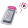 Mambo waterproof smartphone storage pouch in pink-and-transparent