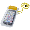 Mambo waterproof smartphone storage pouch in yellow-and-transparent