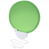 Breeze foldable hand fan with cord in lime-and-white-solid