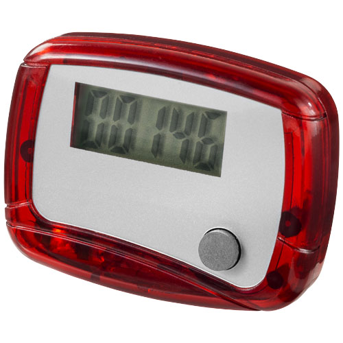 In shape pedometer in red-and-white-solid