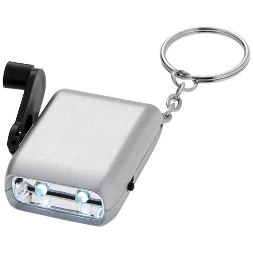 Carina dual LED keychain light in silver