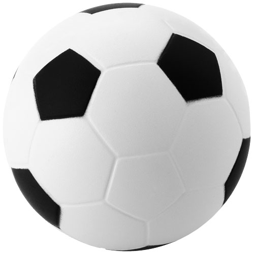 Football stress reliever in white-solid-and-black-solid