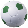 Football stress reliever in white-solid-and-green