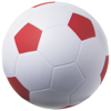 Football stress reliever in white-solid-and-red