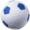 Football stress reliever in white-solid-and-royal-blue