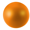 Cool round stress reliever in orange