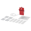 Haste 10-piece first aid kit in red
