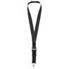 Yogi lanyard detachable buckle break-away closure in black-solid