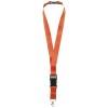 Yogi lanyard detachable buckle break-away closure in orange