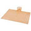 Huko disposable rain poncho with storage pouch in transparent-orange