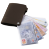 Valencia card holder with 10 slots in brown