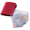 Valencia card holder with 10 slots in red