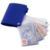 Valencia card holder with 10 slots in royal-blue