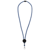 Hagen dual-tone lanyard with adjustable disc in royal-blue-and-black-solid