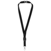 Gatto lanyard with break-away closure in black-solid