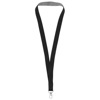 Aru two-tone lanyard with velcro closure in black-solid