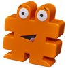 Hashtag stress reliever in orange