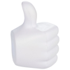 Thumbs-up stress reliever in white-solid