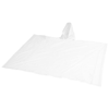 Adjustable rain poncho with pouch in white-solid