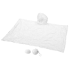 Xina rain poncho in storage ball with keychain in white-solid