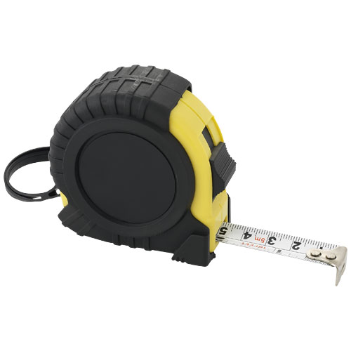 Evan 5 metre measuring tape in black-solid-and-yellow