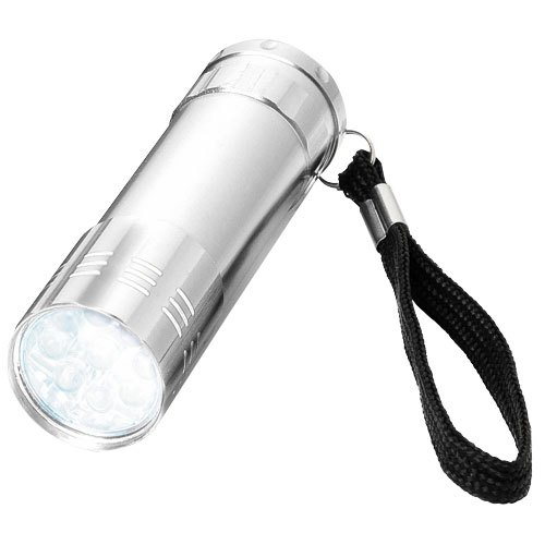 Leonis 9-LED torch light in silver