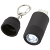 Avior rechargeable LED USB keychain light in black-solid