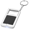 Orcus LED keychain light and bottle opener in black-solid-and-silver