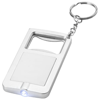 Orcus LED keychain light and bottle opener in white-solid-and-silver