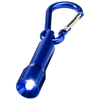 Lyra LED keychain light with carabiner in blue