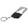Octa 8-function keychain tool and LED light in black-solid-and-grey