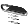 Re-pear screwdriver carabiner kit in black-solid-and-silver