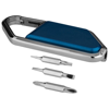 Re-pear screwdriver carabiner kit in blue-and-silver