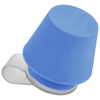 Saga lampshade and media stand in blue