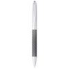 Winona ballpoint pen with carbon fibre details in silver-and-dark-grey