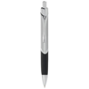 Sobee triangular-shaped ballpoint pen in silver-and-black-solid
