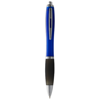 Nash ballpoint pen coloured barrel and black grip in blue-and-black-solid