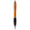 Nash ballpoint pen coloured barrel and black grip in orange-and-black-solid