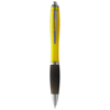Nash ballpoint pen coloured barrel and black grip in yellow-and-black-solid