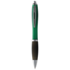 Nash ballpoint pen coloured barrel and black grip in green-and-black-solid