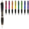 Nash ballpoint pen coloured barrel and black grip in purple