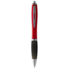 Nash ballpoint pen coloured barrel and black grip in red-and-black-solid